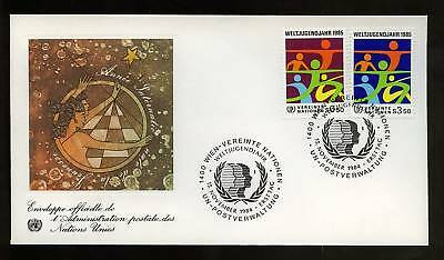 United Nations Vienna 1984 Youth Year FDC