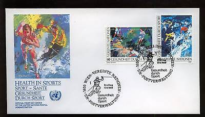 United Nations Vienna 1988 Health In Sports FDC