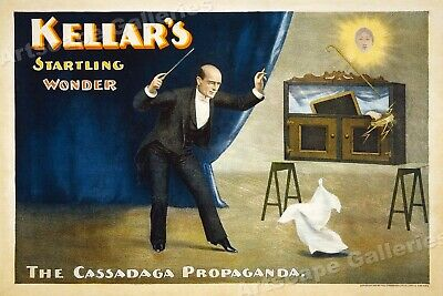 1890s Kellar's the Magician Wonder - Vintage Style Magic Poster - 16x24