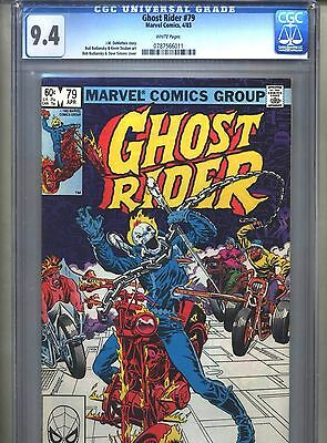 Ghost Rider #79 CGC 9.4 (1983) White Pages