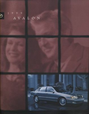 1999 Toyota Avalon Sales Brochure Book Catalog