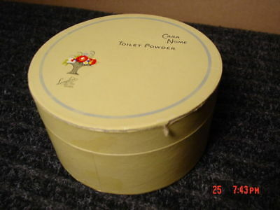 Vintage Cara Nome Dusting Powder Round Box Langlois Old