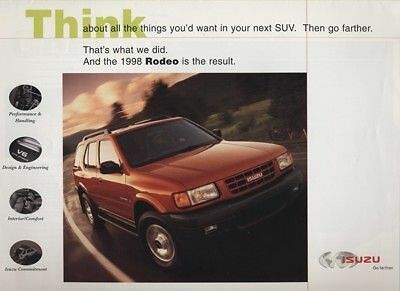1998 Isuzu Rodeo Promo Sales Brochure Book Catalog