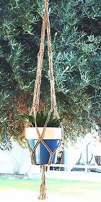 MACRAME PLANT HANGER 36 inch ** All NATURAL JUTE **