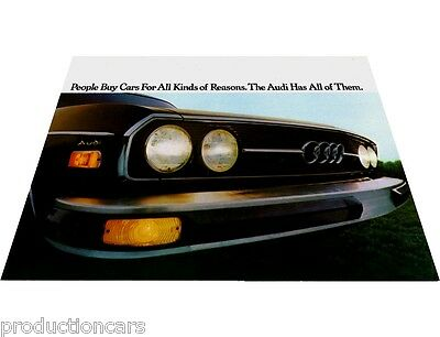 1975 Audi 100LS 100 LS Sales Brochure Folder