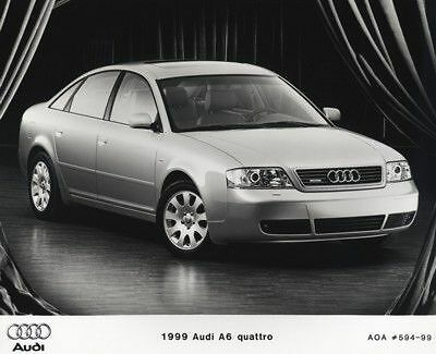 1999 Audi A6 Press Photo and Sales Release plus book
