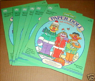 1984 Sesame Street Paper Doll Paperdoll Punch-out Collector One Book NEW NM