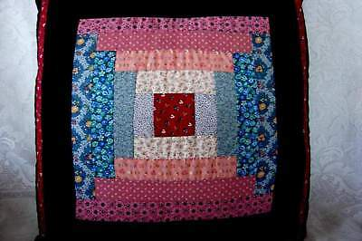 Vintage Collectible Hand Made Cotton Calico Patchwork Sofa/Bed Pillow