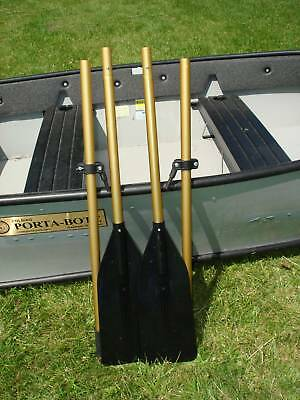 BOAT  OARS WITH OAR LOCKS NEW 2PC 6 1/2'  (free shipping) MADE IN USA