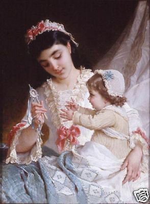 "Handicrafts Art Repro oil painting:""Mother and Baby"""