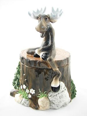 Big Sky Carvers Moose Treat/cookie Jar Mountain Mooses