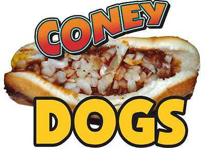 """Coney Island Hot Dogs Cart Food Concession Decal 12"""""""