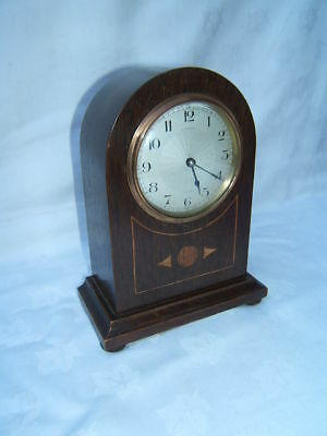 Clock vintage mantel French Mahogany working  VGC   M9