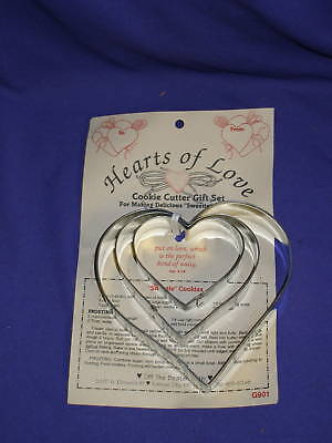 Hearts of Love Cookie Cutter Set by Off The Beaten Path