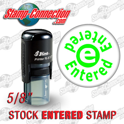 Shiny 517R Self-Inking ENTERED Stamp (GREEN)