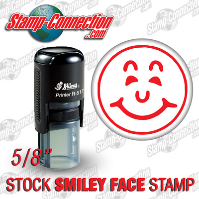 Shiny 517R Self-Inking SMILEY FACE Stamp  RED