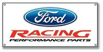 Ford Racing Steel Sign Performance Parts Cabin Lodge Gas Station Decor 8x18 New