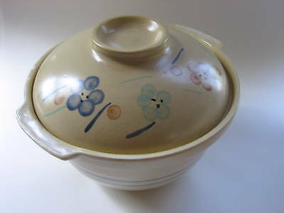 Vintage Hand Painted Handan China Pottery Crock Floral