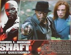SHAFT 11x14 US Lobby Cards Set - Christian Bale