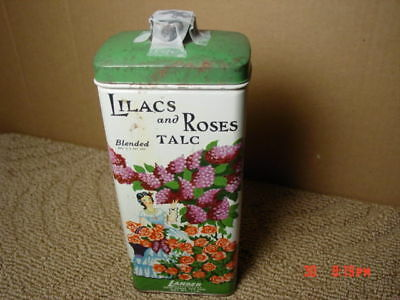 Vintage Lilacs and Roses Blended Talc Tin Lander Powder