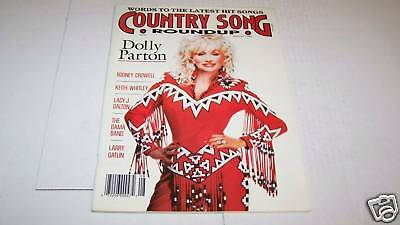 8/1989 COUNTRY SONG ROUNDUP music magazine DOLLY PARTON