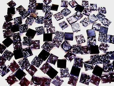 50 Mixed PURPLE Mosaic MIRROR Tiles 1cm x 1cm Art Crafts Supplies
