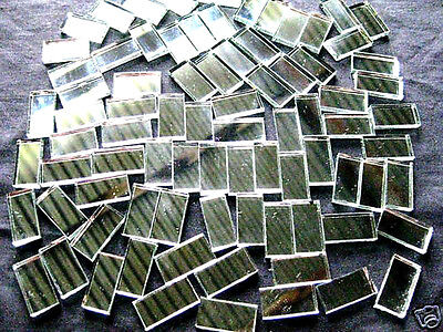 50 Mosaic MIRROR Tiles 2cm x 1cm Perfect For Easy Borders