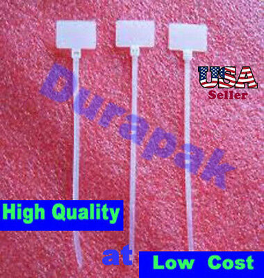 """500 4.3"""" Natural Overhead Marker Wire Cable Tie 18 Lbs"""