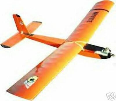 Novice plan powered glider Sid King balsa RC trainer