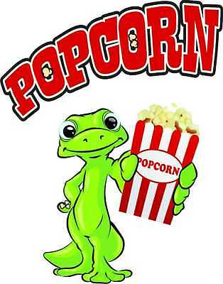 "Popcorn Decal 14"" Concession Menu Food Restaurant"