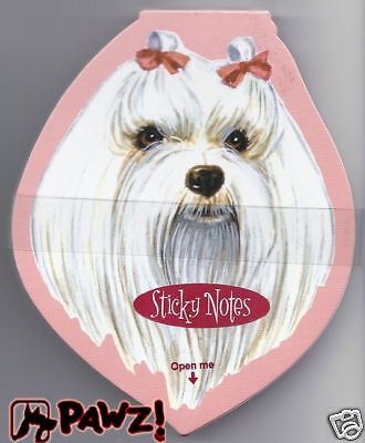 MALTESE Head Dog Breed Sticky Notes Memo Pad New