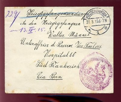 Poland 1915 Soldiers Concession Cover...military Cachet
