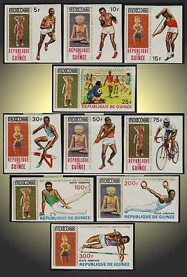 1968 Olympics Mexico Guinea Maya Sculpture And Sports