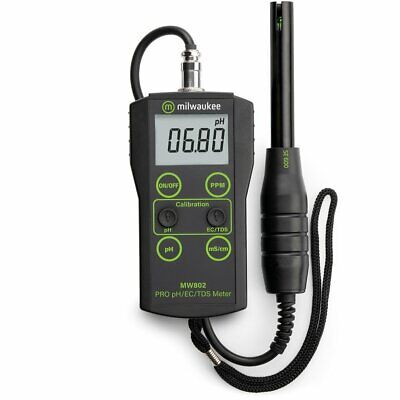 Milwaukee MW802 Digital pH EC TDS ppm COMBO Portable Meter Tester