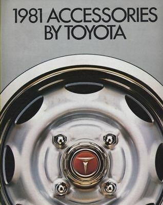 1981 Toyota Accessories Sales Brochure Celica Corolla