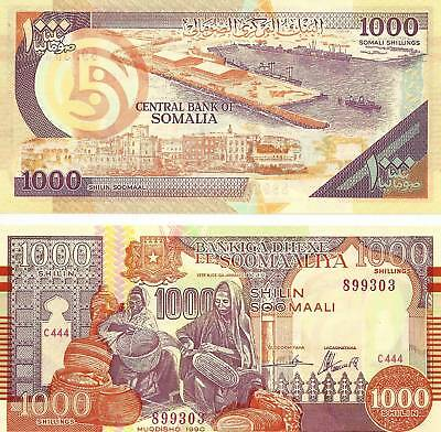 Somalia 1000 Shillings Uncirculated Note Year 1990