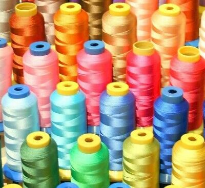 50 X-Lg Cone Poly Machine Embroidery Thread For Brother