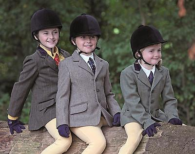 Shires childs huntingdon tweed riding hacking jacket showing,  all sizes