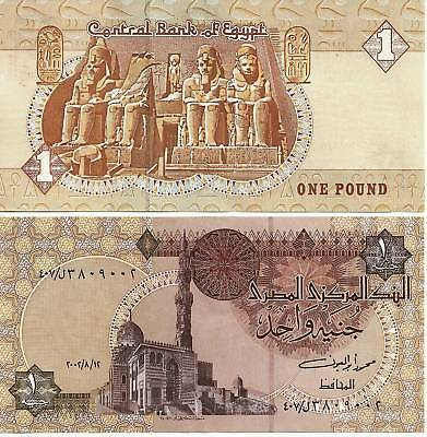 2002 Egypt One Pound Uncirculated Egyptian Note