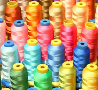 50 X-Lg Cone Poly Machine Embroidery Threads For Singer
