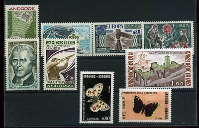 Stamps 1967 Andorra French Year Complete 8 Val Mf18435