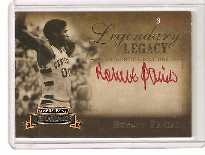 Robert Parish 2007 Press Pass Legends Red Autograph Celtics 214/255