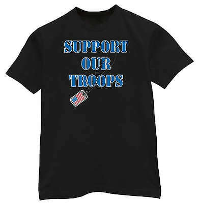 Support our troops US Army Marines USMC Navy T-shirt