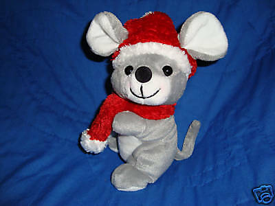Sears Exclusive Wishkers Christmas Beanbag Plush Mouse