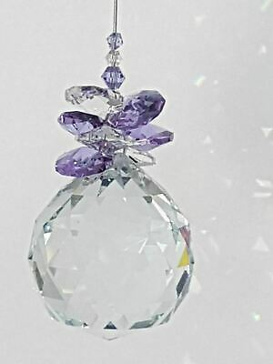 1 x CRYSTAL BALL suncatcher, gift, assorted colours