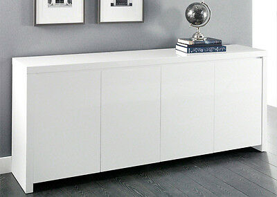 high gloss anrichte sideboard lack wei hochglanz b 240 cm eur 925 00 picclick de. Black Bedroom Furniture Sets. Home Design Ideas