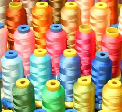 50 X-Lg Cone Poly Machine Embroidery Thread For Bernina