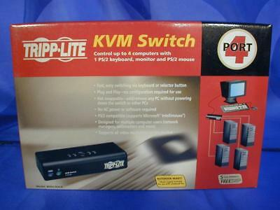 e NEW TRIPP LITE 4 PORT KVM SWITCH B004-004-R