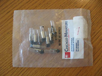 10 NEW Chicago Miniature lamp 12PSB 12v T2 base
