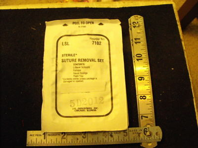 Us Military Issue Suture Removal Set, Sealed, ex 2012